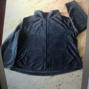 MTA Sports Ladies Gray Zipper Jacket 1X